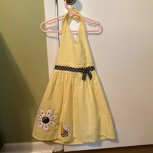 Sweet yellow halter sundress - Size 6 - EUC